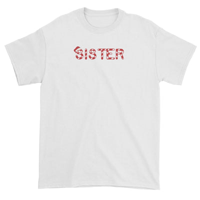 Candy Cane Alphabet Sister with Santa Hat Unisex T-Shirt