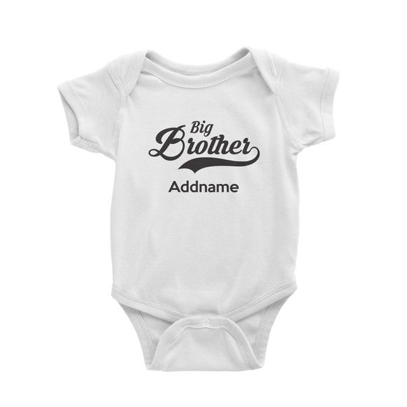 Retro Big Brother Addname Baby Romper