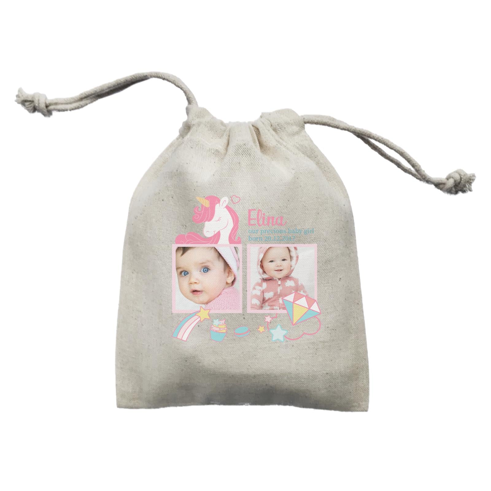 Photo Gift Series Sweet Unicorn Baby Girl Mini Accessories Mini Pouch