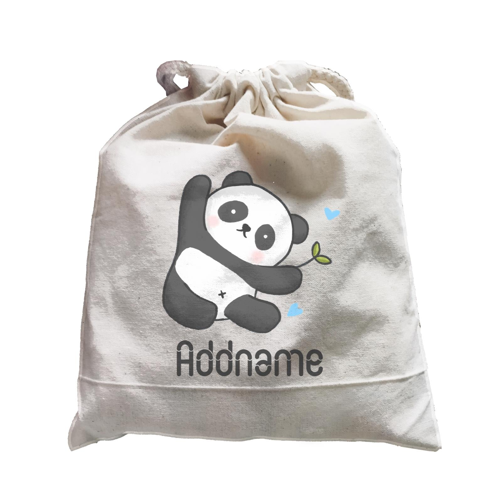 Cute Hand Drawn Style Panda Addname Satchel