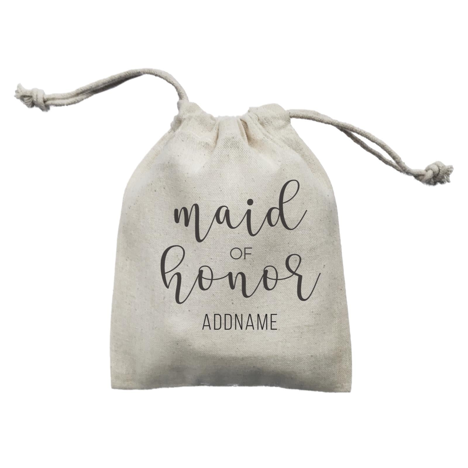 Bridesmaid Calligraphy Maid Of Honour Subtle Addname Mini Accessories Mini Pouch
