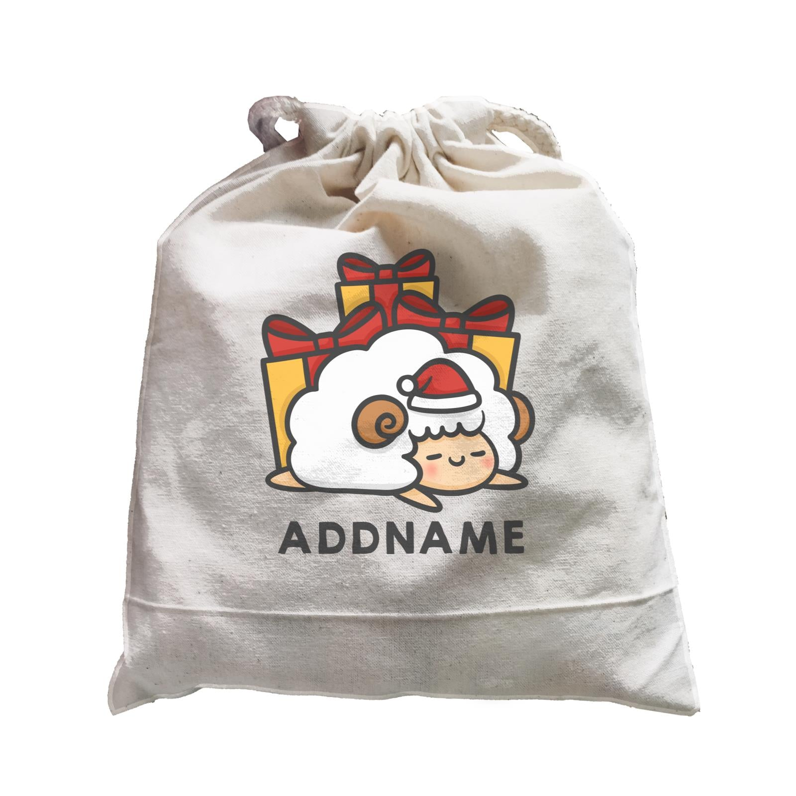 Xmas Cute Sleeping Sheep Addname Accessories Satchel