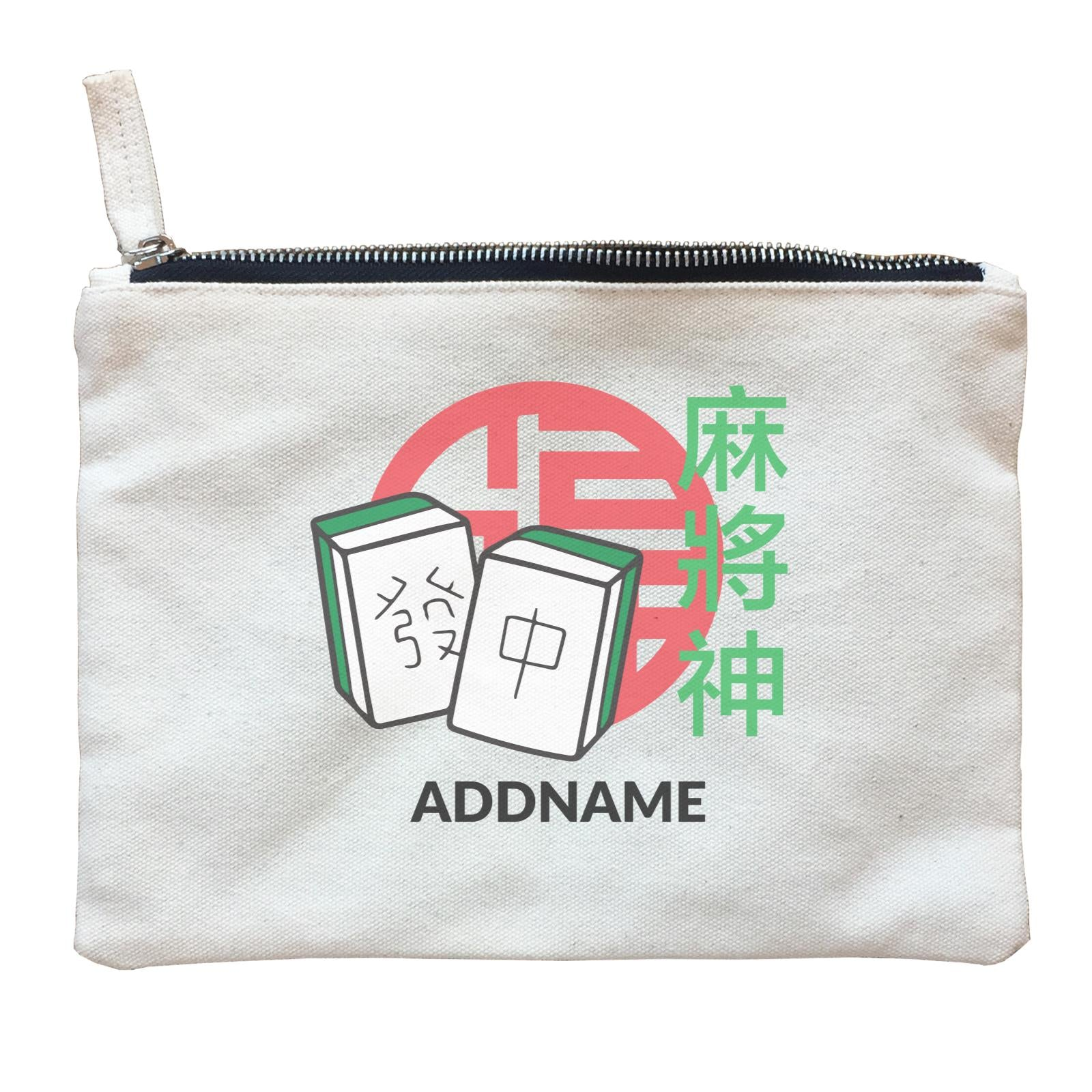 Chinese New Year God of Mahjong Addname Accessories Accessories Zipper Pouch