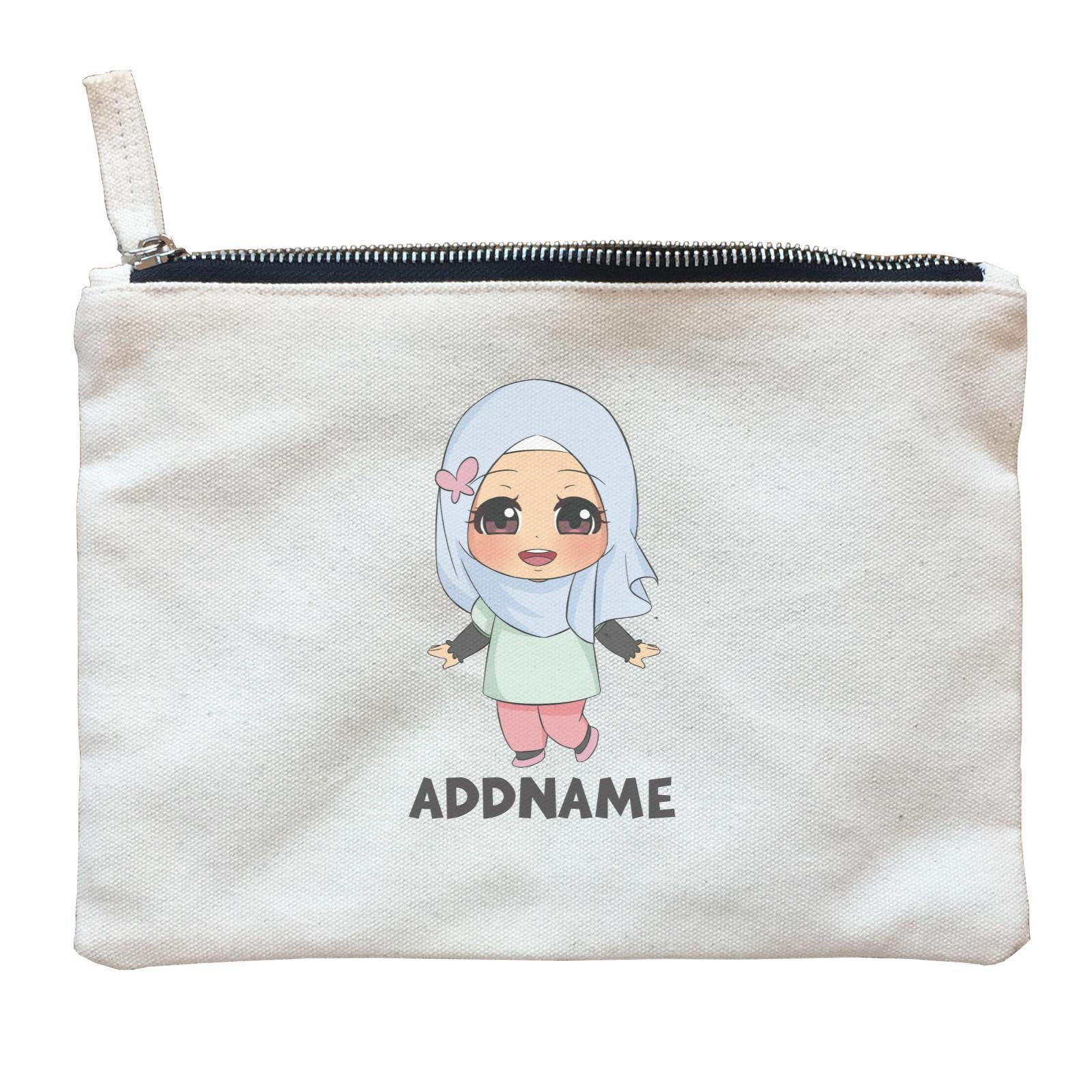 Children's Day Gift Series Little Malay Girl Addname  Zipper Pouch