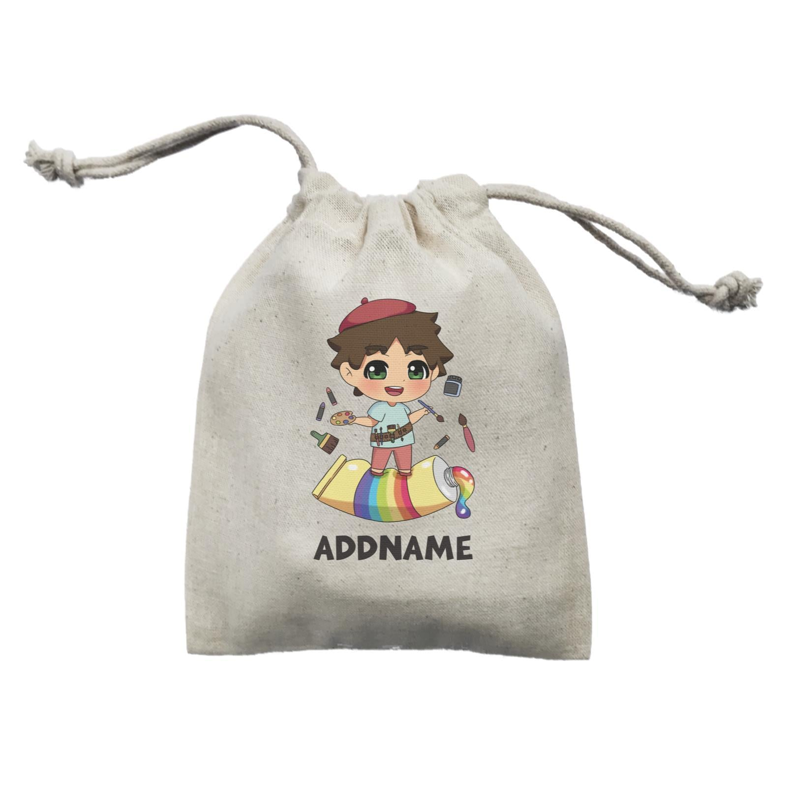 Children's Day Gift Series Artist Little Boy Addname  Mini Pouch
