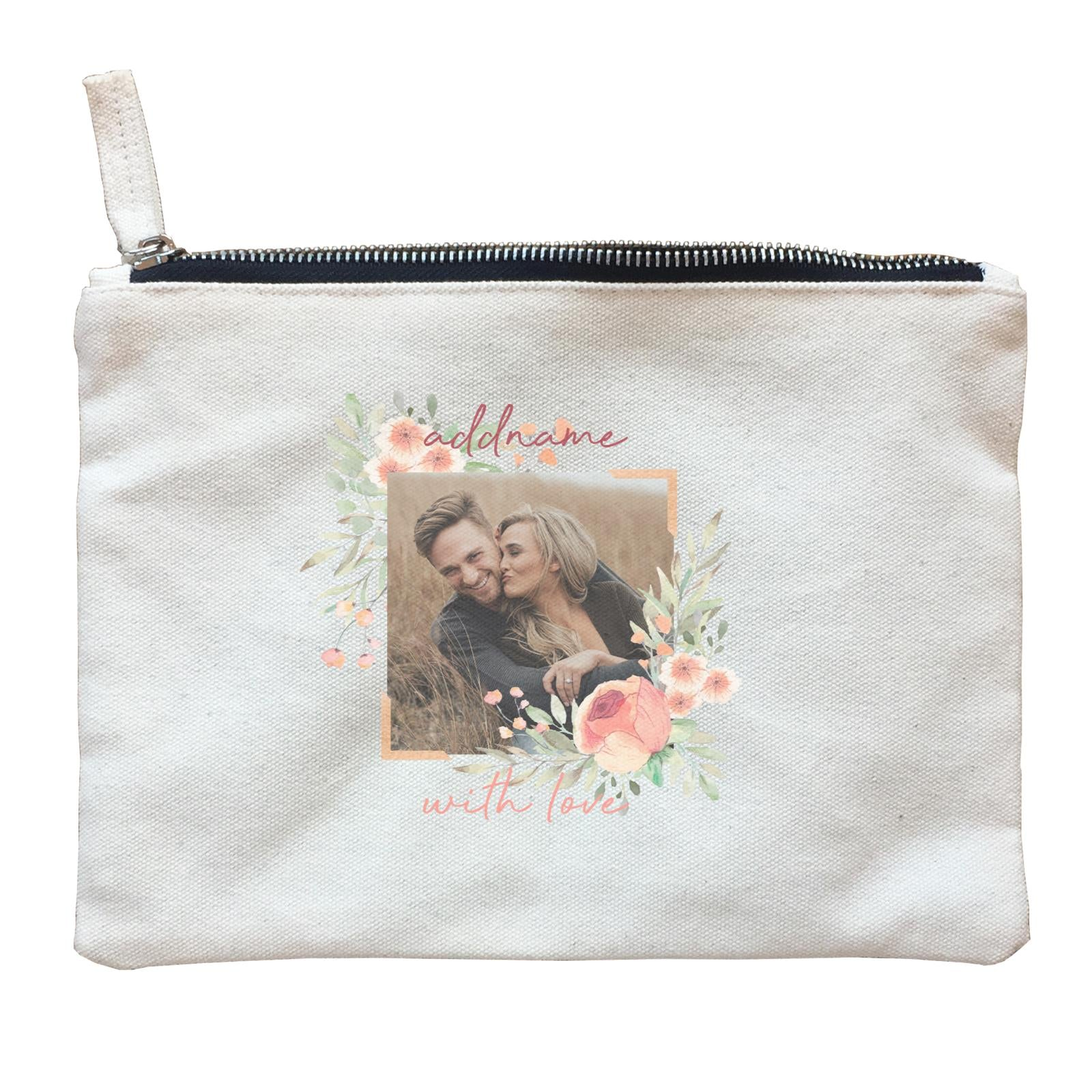 Photo Gift Series Romantic Floral Decoration Zipper Pouch