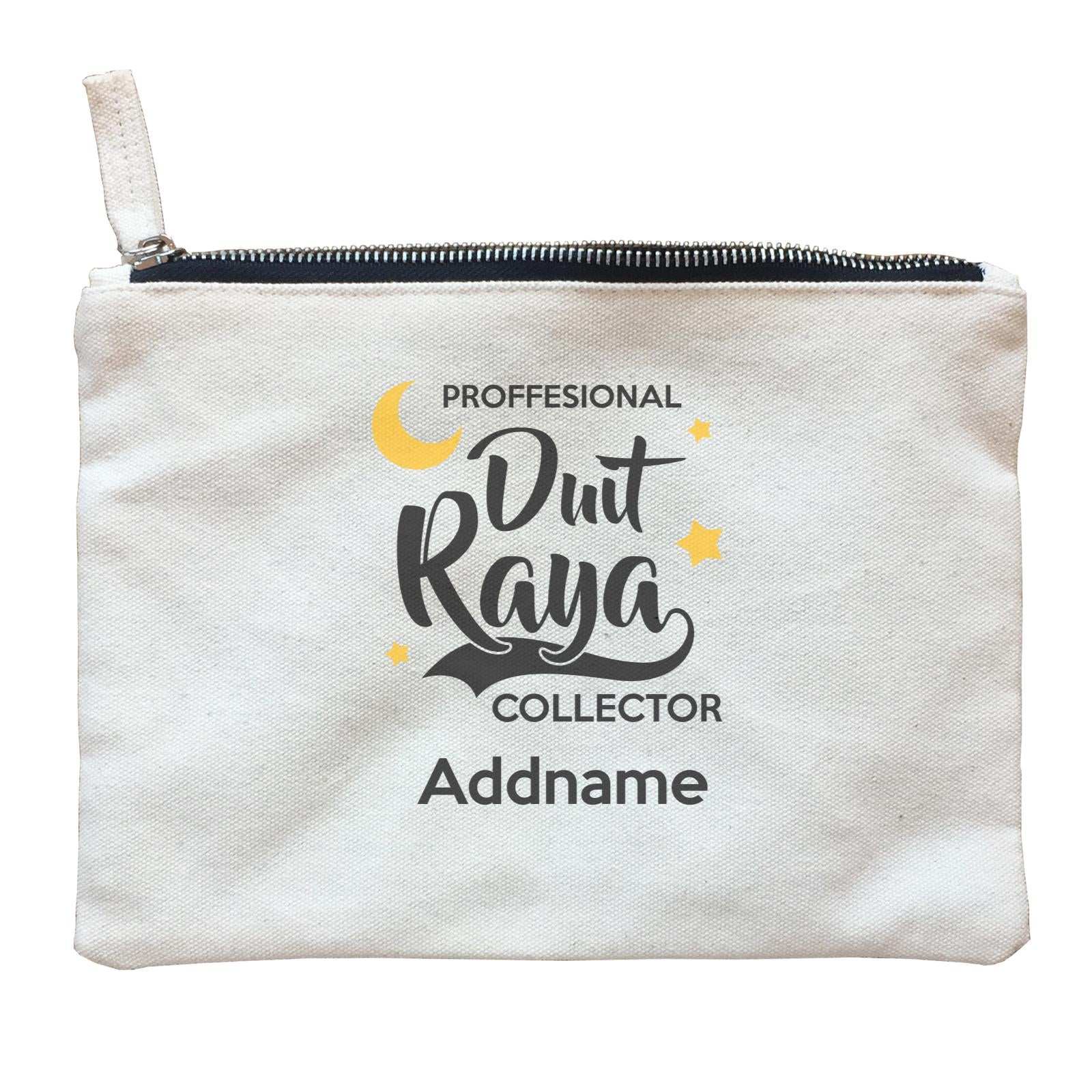 Raya Typography Professional Duit Raya Collector Addname Zipper Pouch
