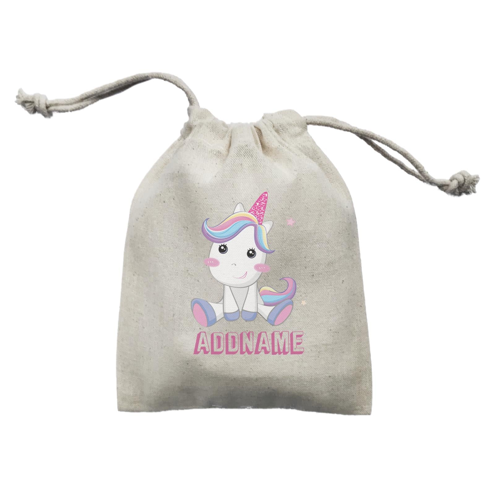 Birthday Unicorn Cute Looking Addname Mini Accessories Mini Pouch