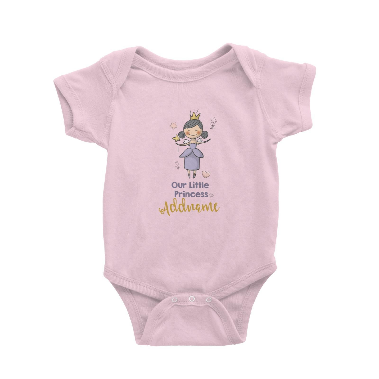 Babywears.my Our Little Princess in Purple Dress with Addname T-Shirt Personalizable Designs For Girls
