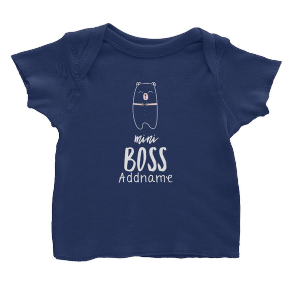 Cute Animals and Friends Series 2 Bear Mini Boss Addname Baby T-Shirt