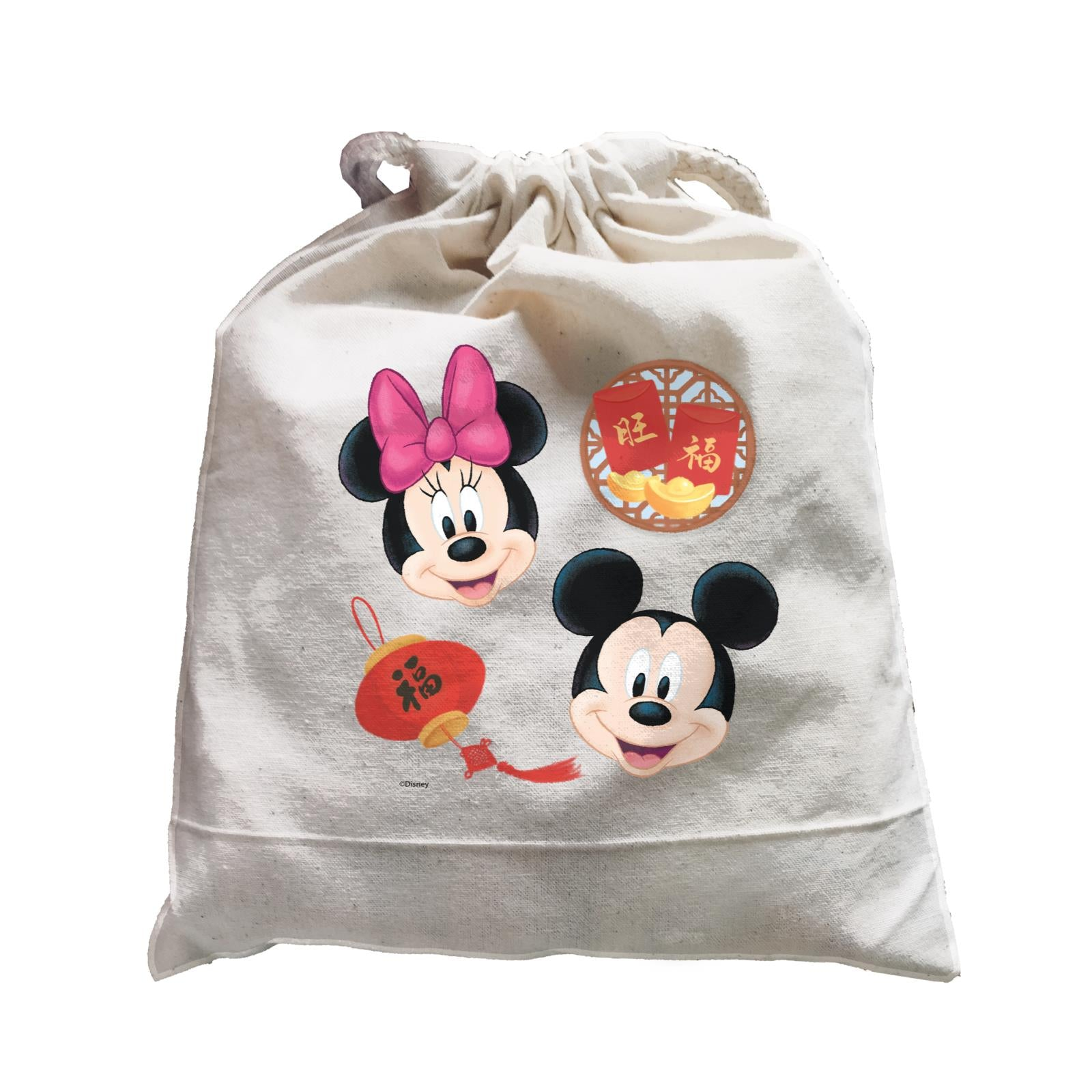 Disney CNY Mickey and Minnie With Prosperity Elements Non Personalised SAT Satchel