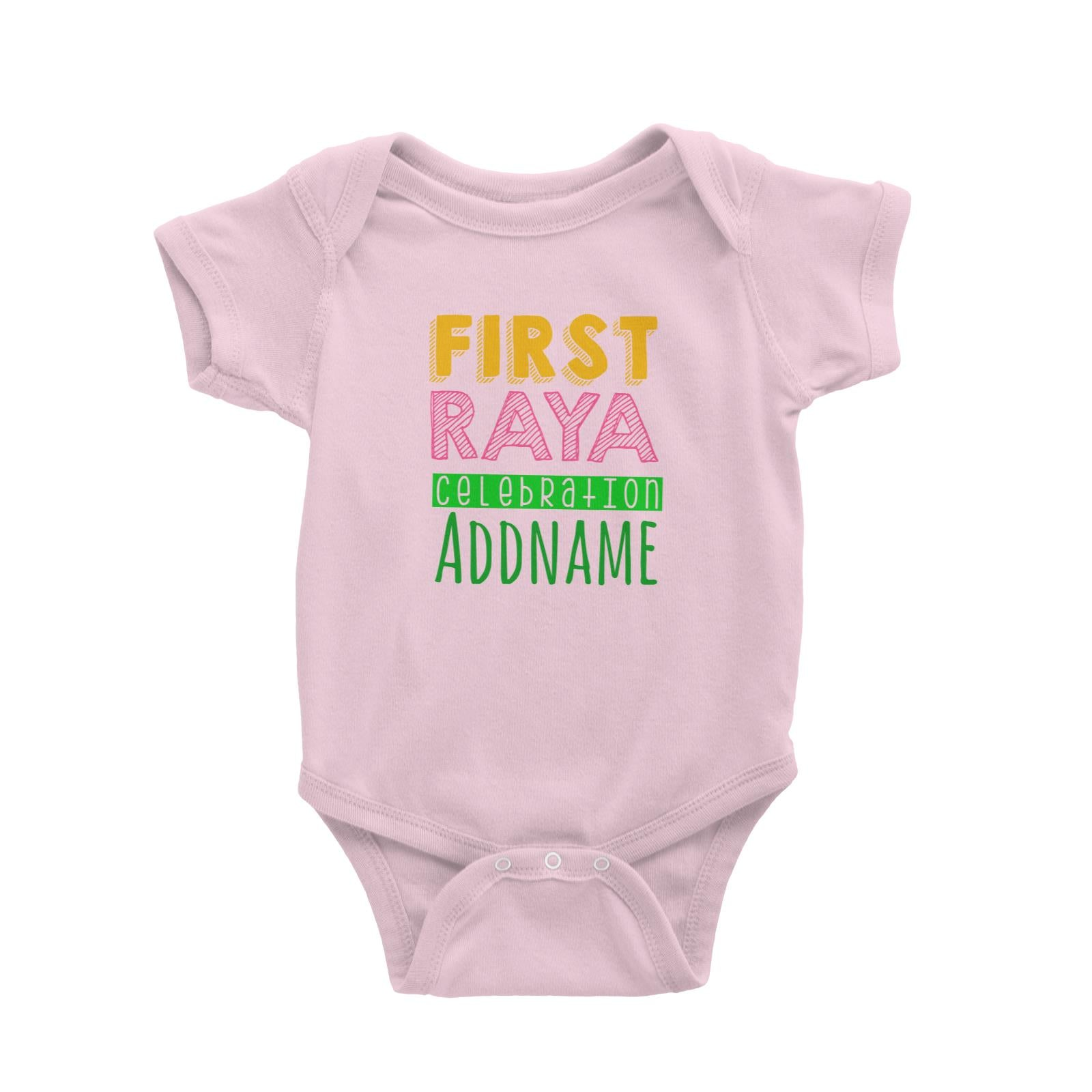 First Raya Celebration Baby Romper  Personalizable Designs