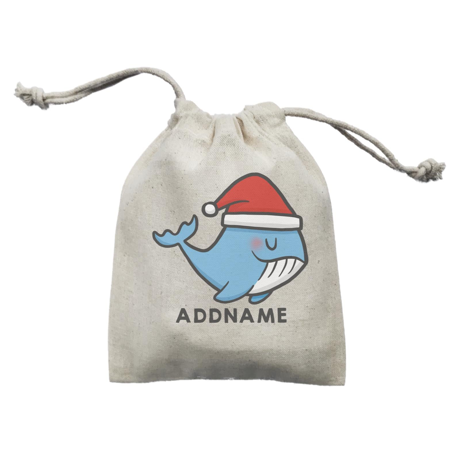 Xmas CuteWhale Christmas Hat Addname Mini Accessories Mini Pouch