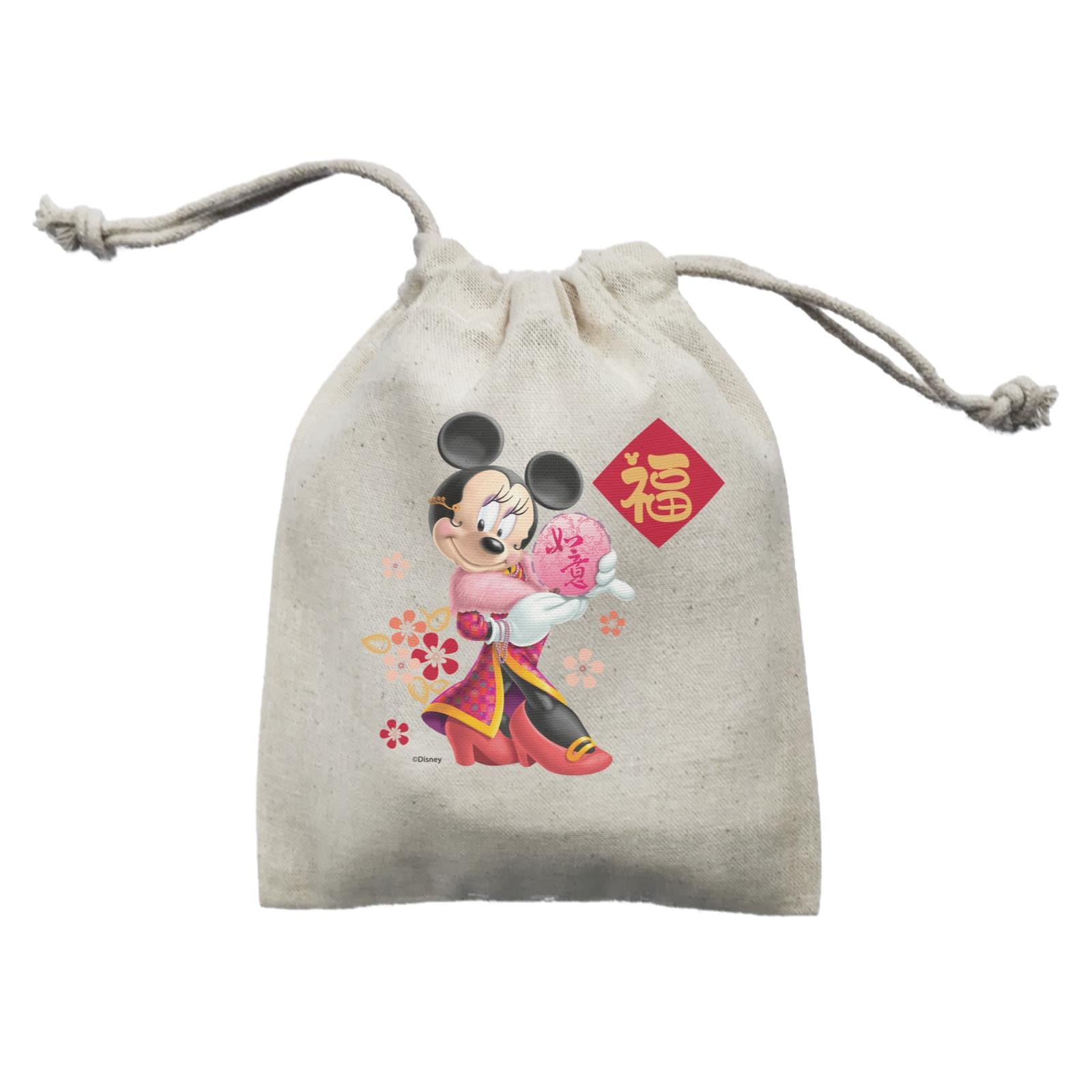 Disney CNY Minnie With Fan Non Personalised Mini Accessories Mini Pouch