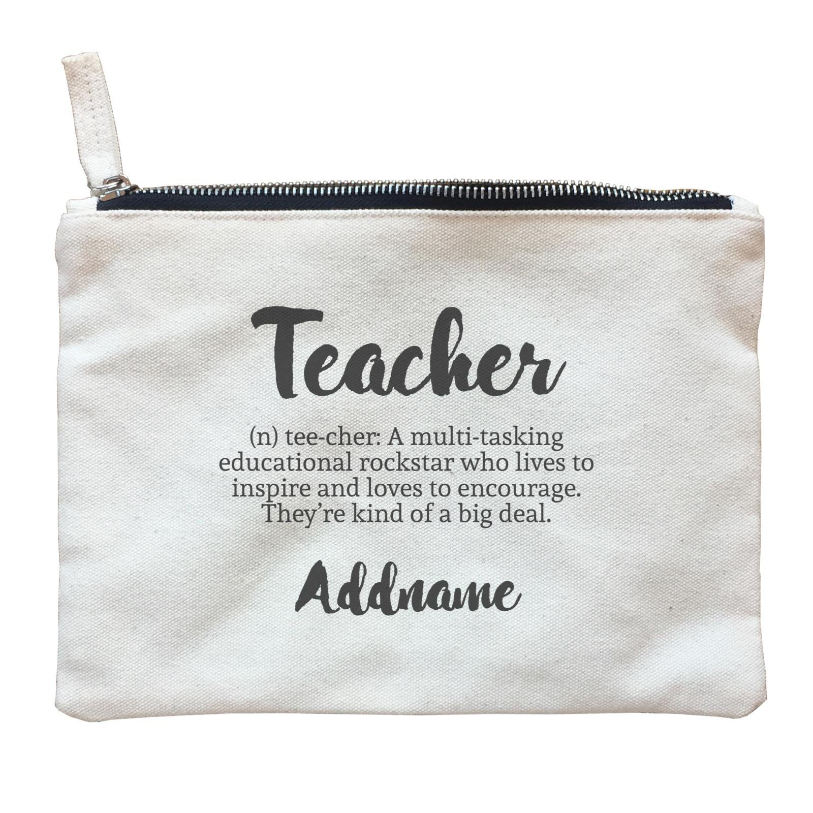 Teacher Quotes 2 Teacher Noun Addname Zipper Pouch