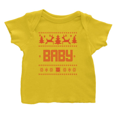 Christmas Sweater Baby Baby T-Shirt  Matching Family
