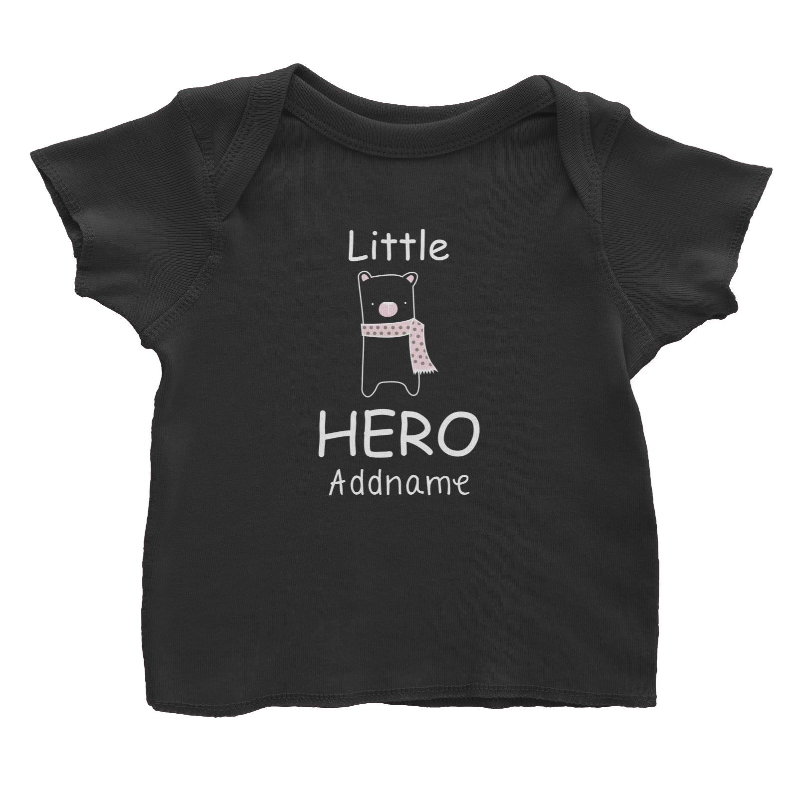 Cute Animals and Friends Series 2 Bear Little Hero Addname Baby T-Shirt