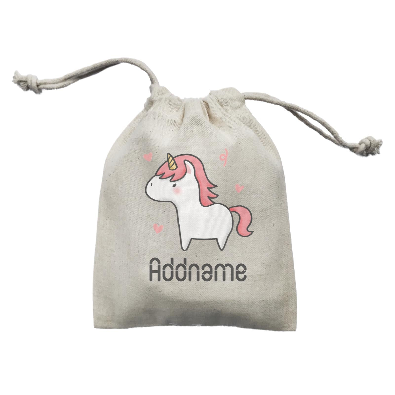 Cute Hand Drawn Style Unicorn Addname Mini Accessories Mini Pouch
