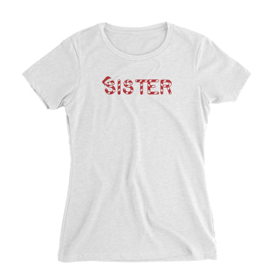 Candy Cane Alphabet Sister with Santa Hat Women's T-Shirt