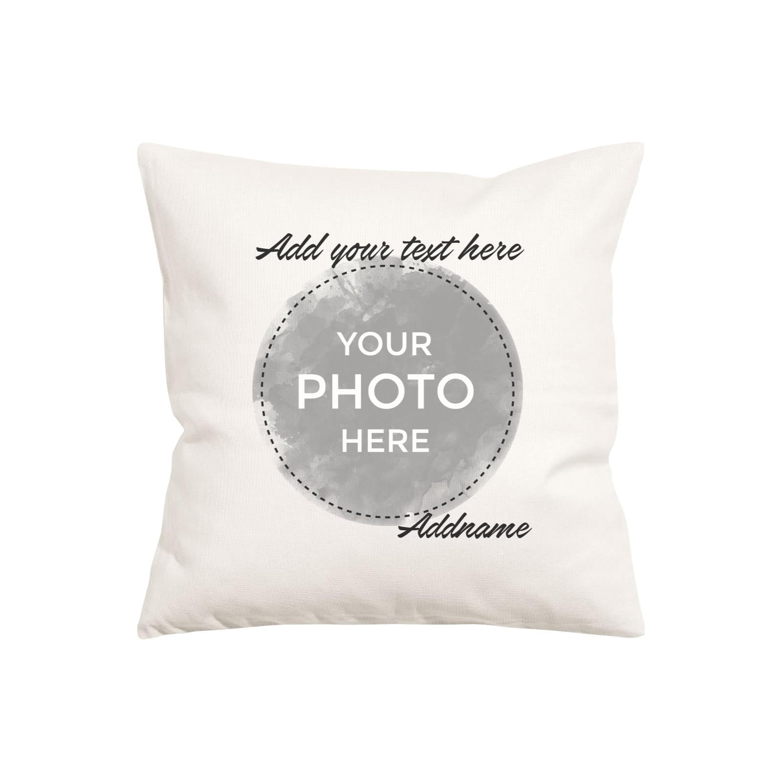 Custom Your Own Watercolor Design Addname Pillow Cushion