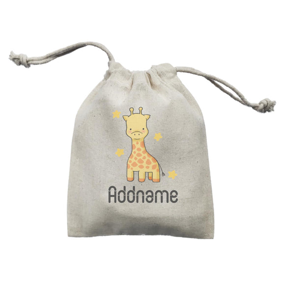 Cute Hand Drawn Style Giraffe Addname Mini Accessories Mini Pouch