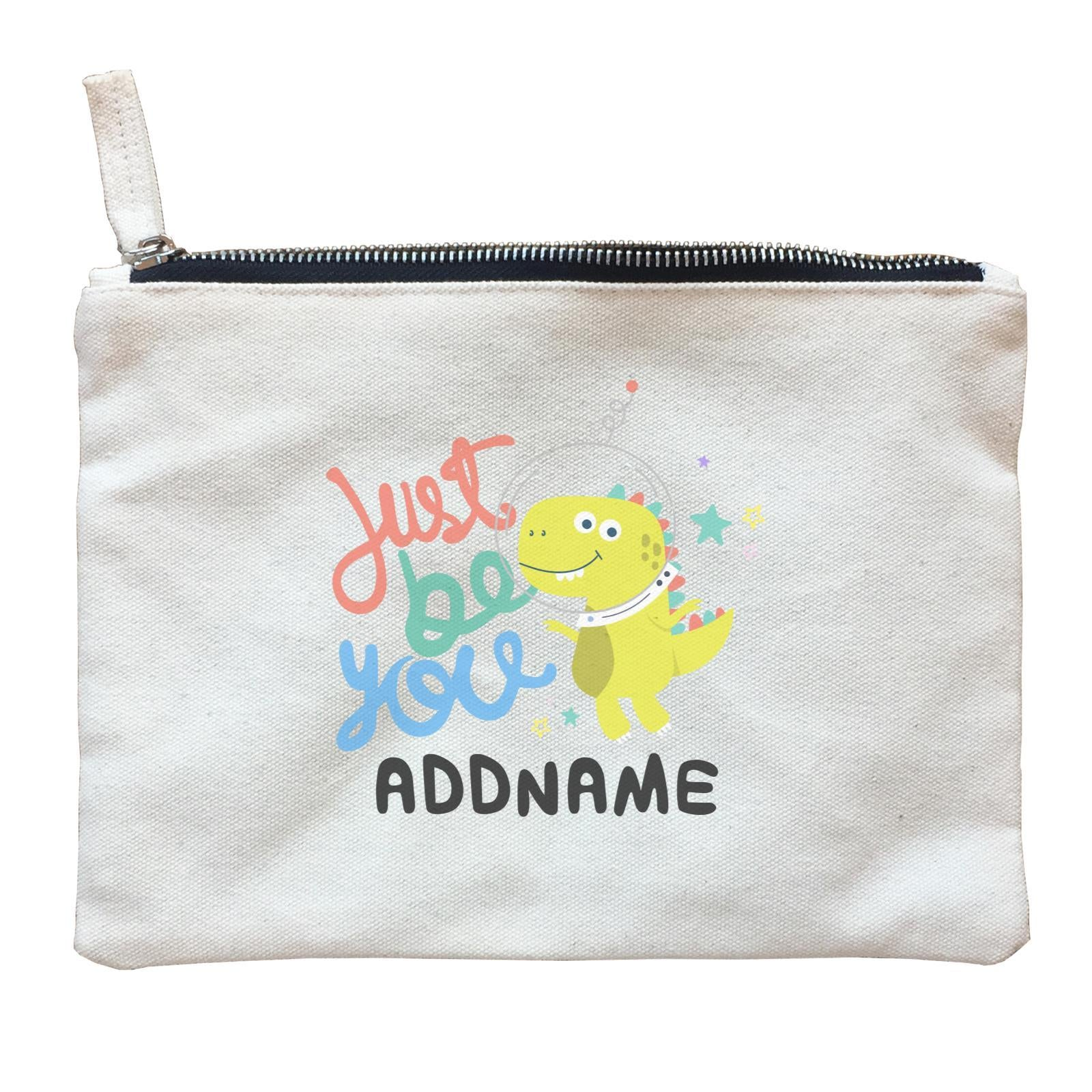 Children's Day Gift Series Just Be You Space Dinosaur Addname  Zipper Pouch