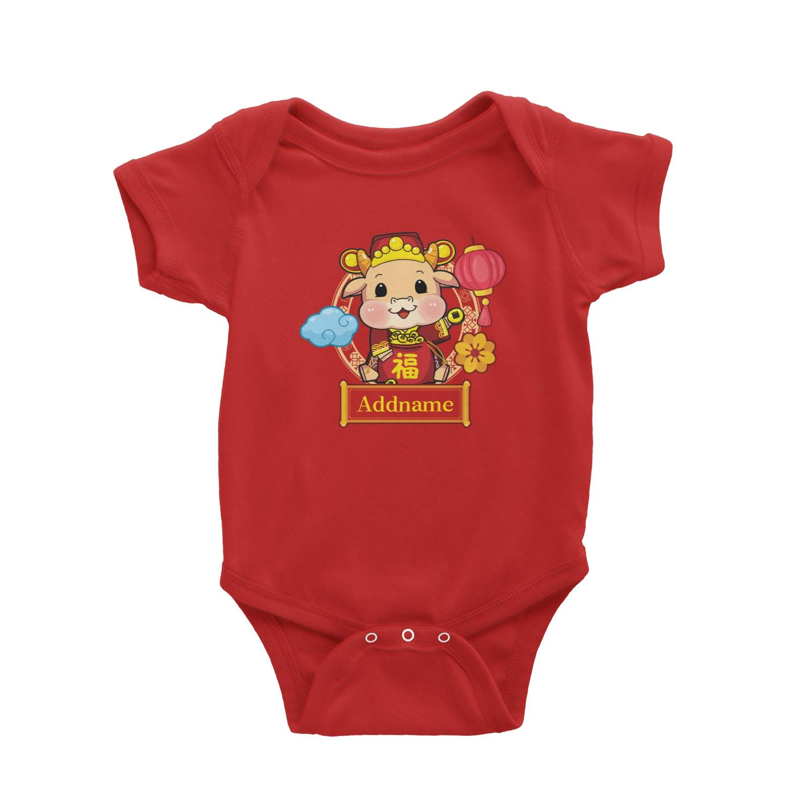 [CNY 2021] Cow of Wealth Baby Romper