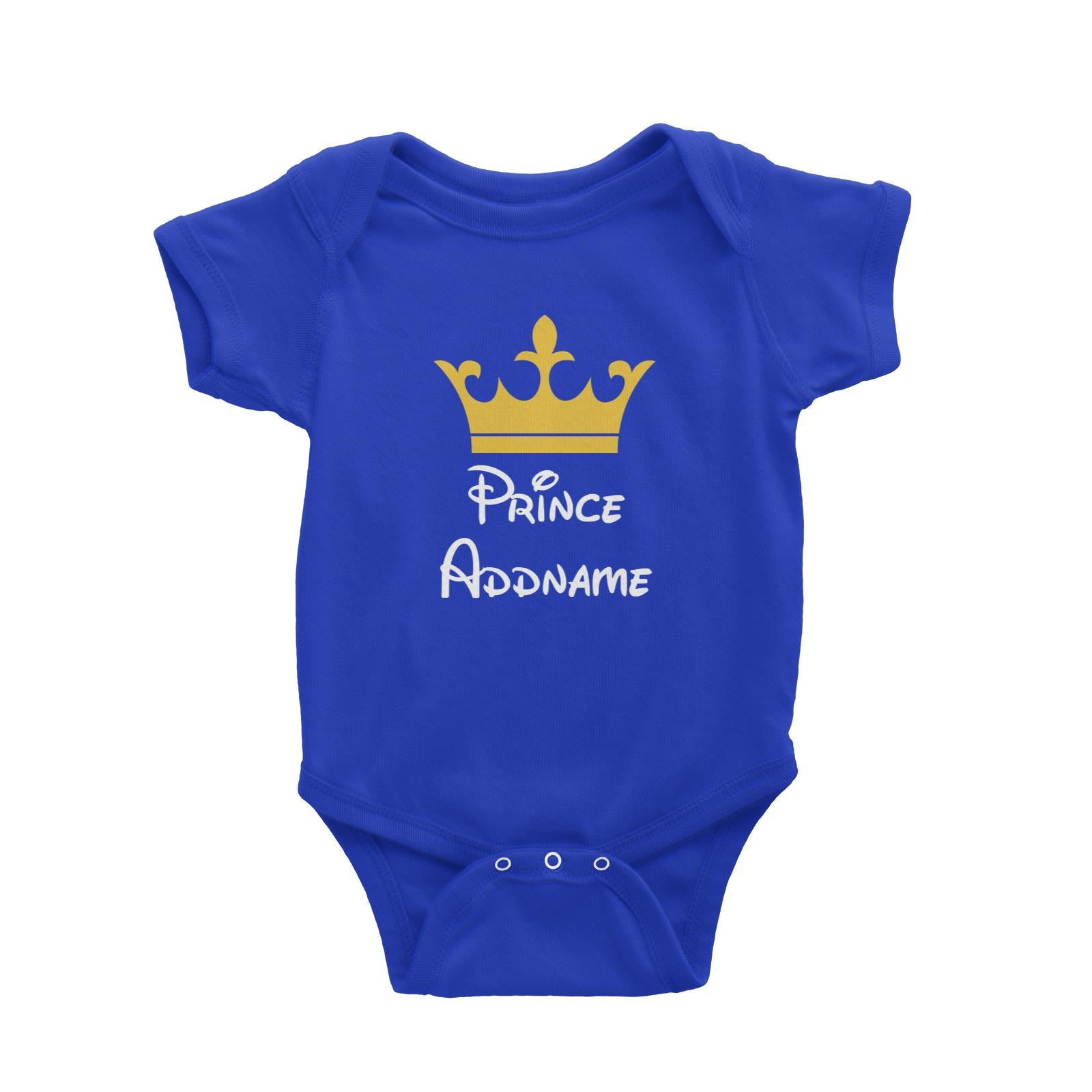Royal Prince with Crown Addname Baby Romper