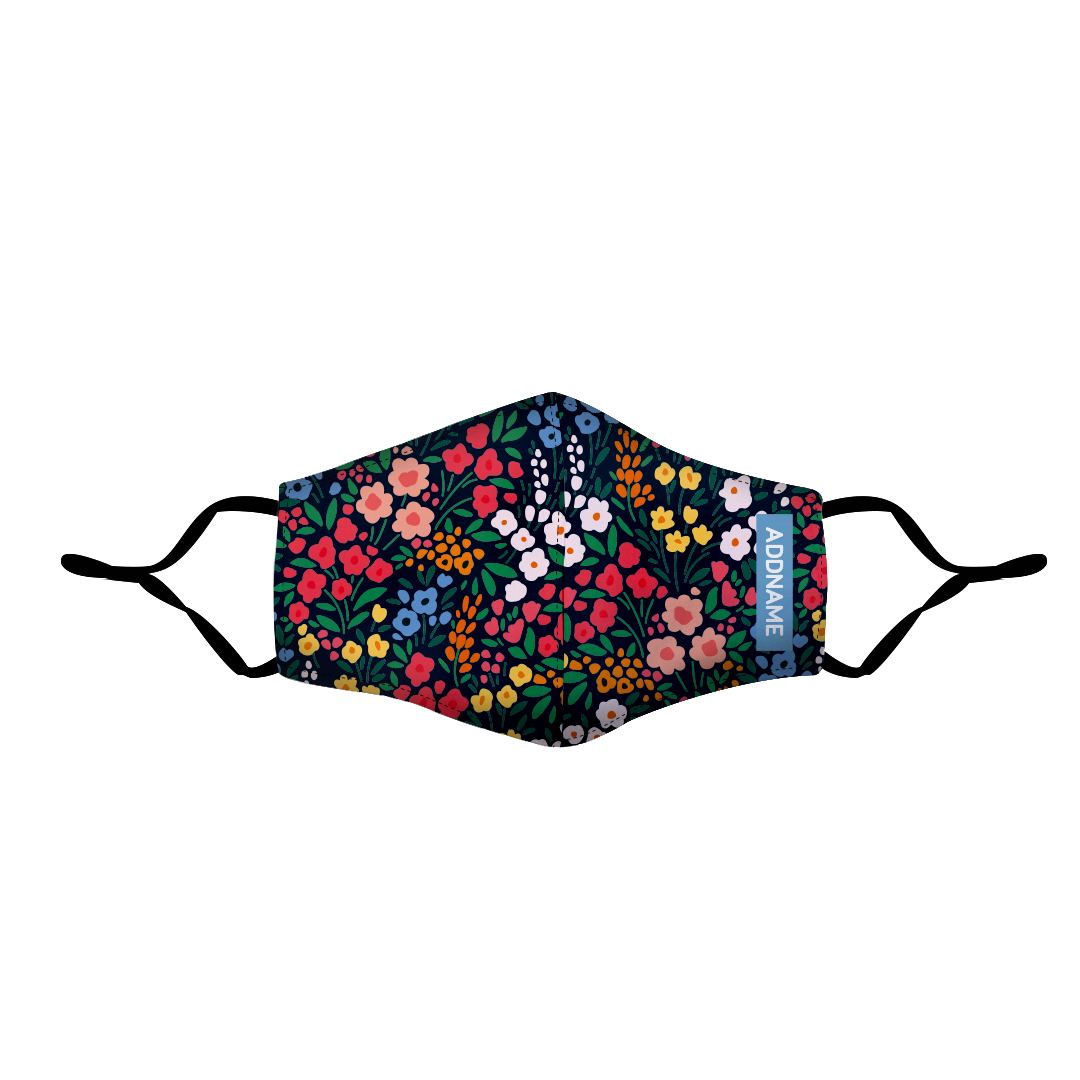 Garden Flowers Fitted Fabric Mask