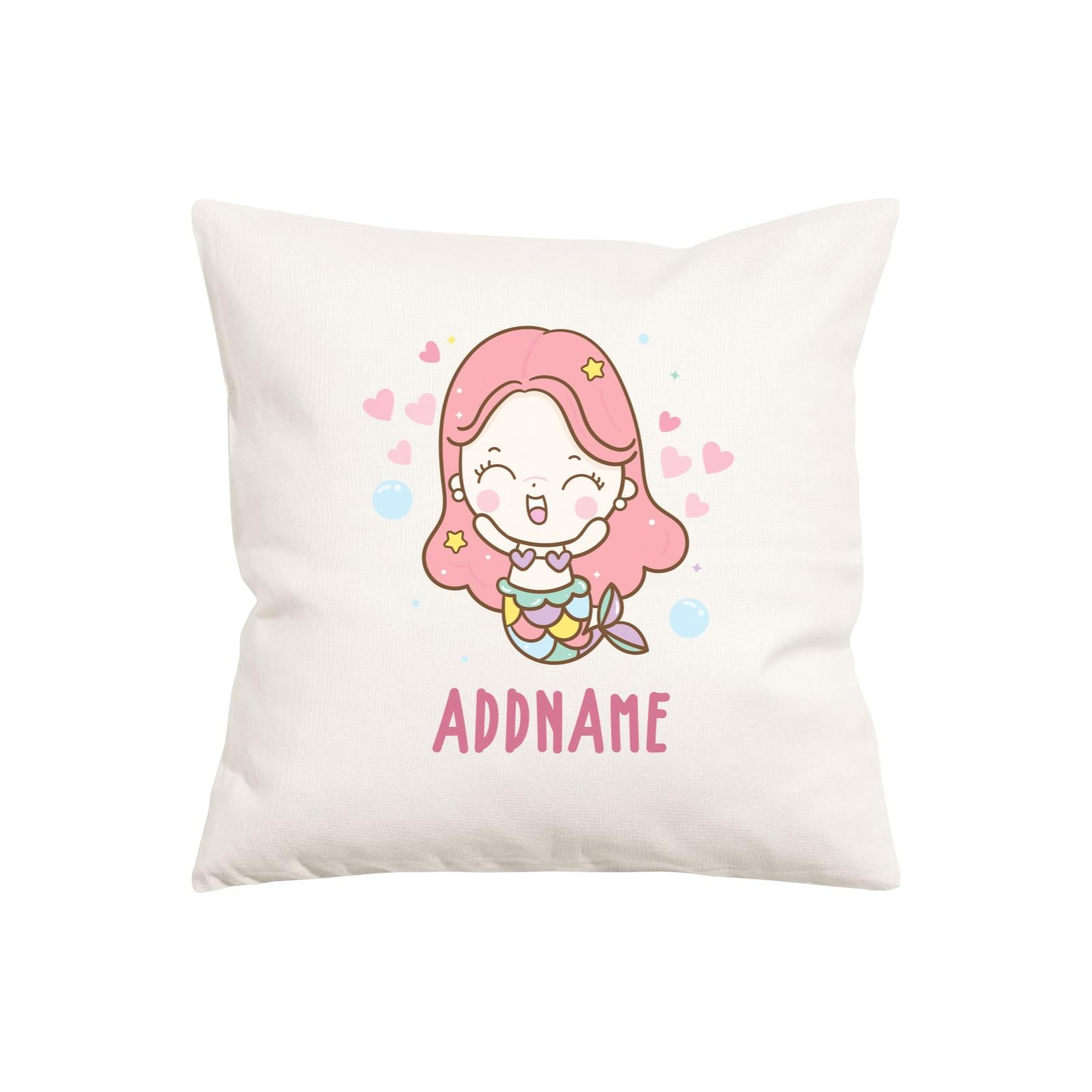 Unicorn And Princess Series Cute Happy Mermaid Girl Addname Pillow Cushion