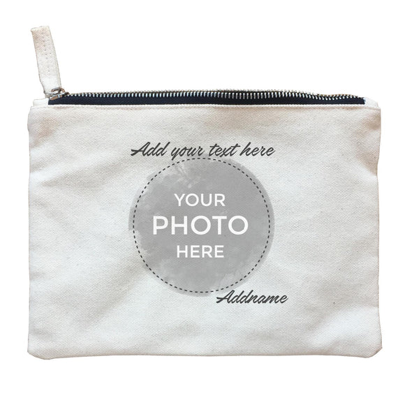 Custom Your Own Watercolor Design Addname Zipper Pouch