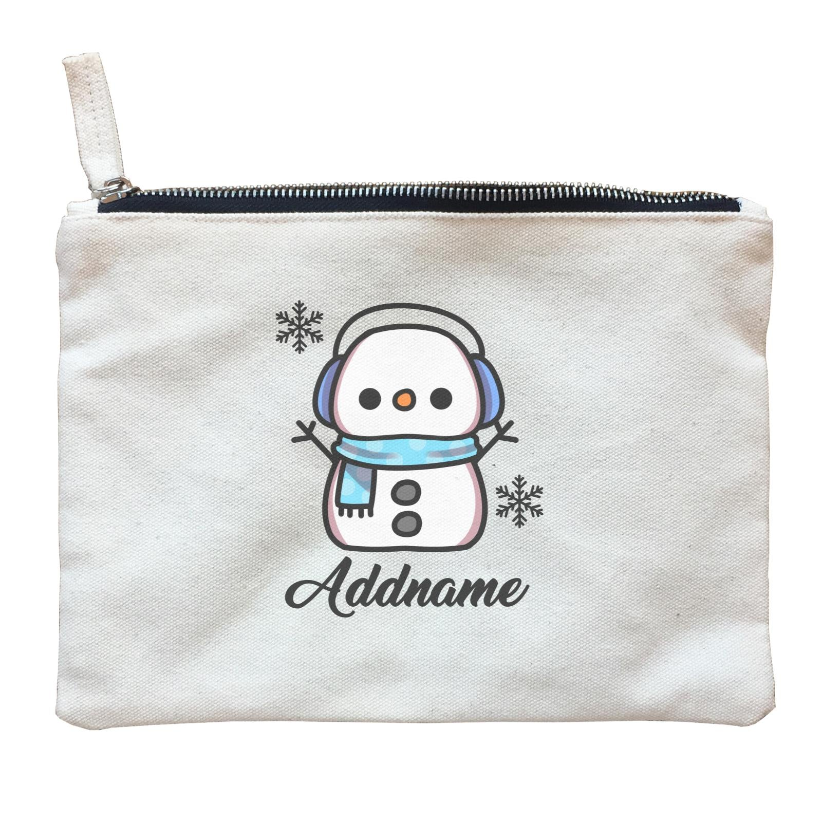 Xmas Little Boy Snowman Zipper Pouch