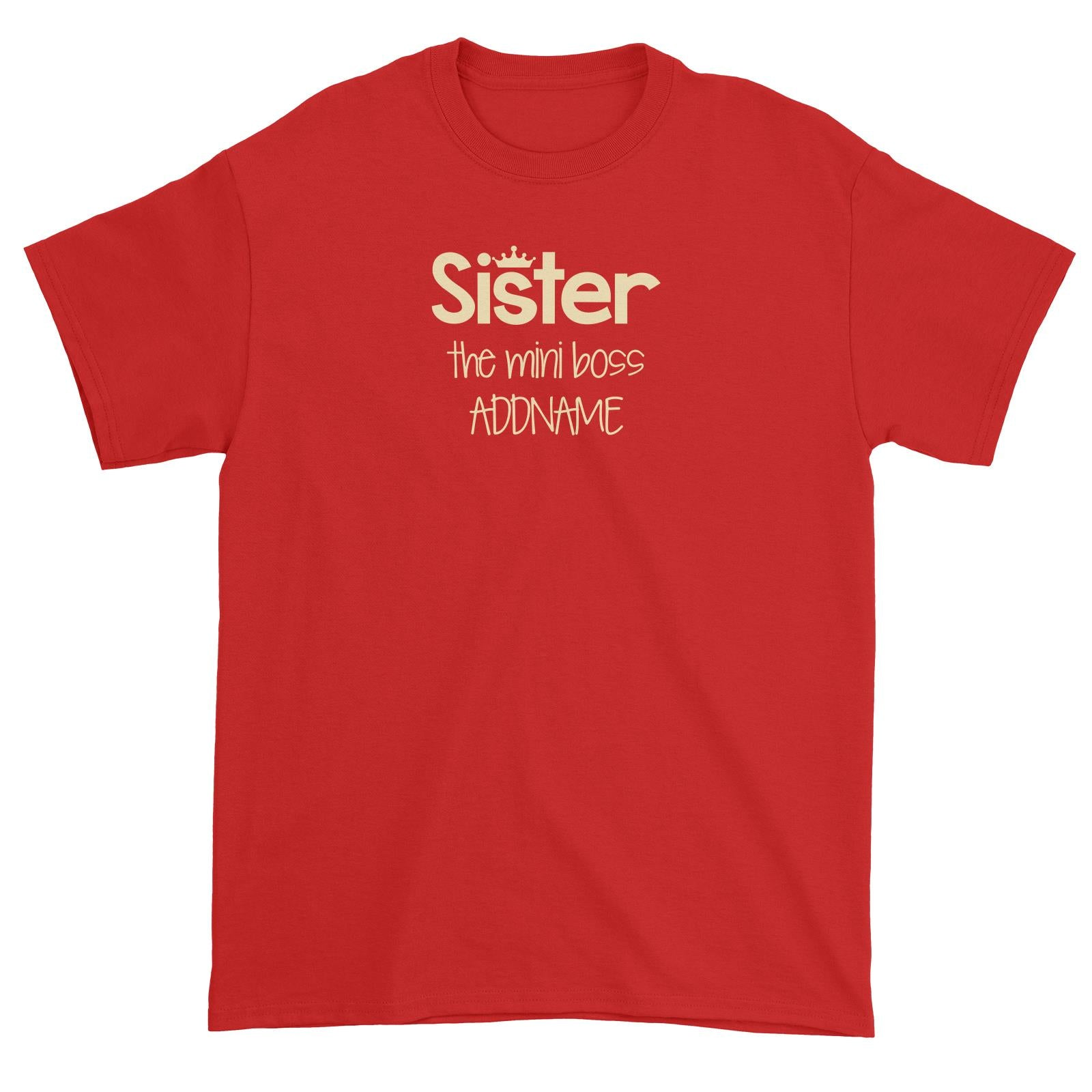 Sister with Tiara The Mini Boss Unisex T-Shirt