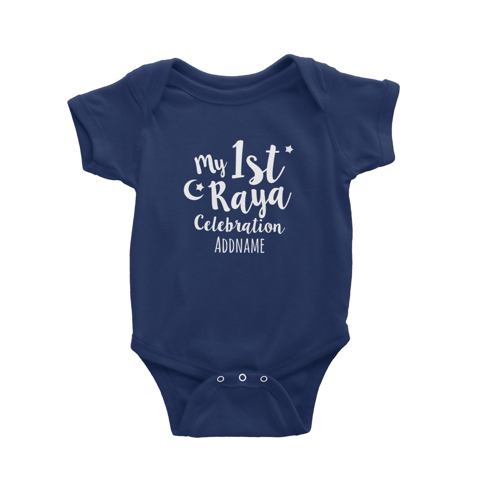 My 1st Raya Celebration Baby Romper  Personalizable Designs Raya Text