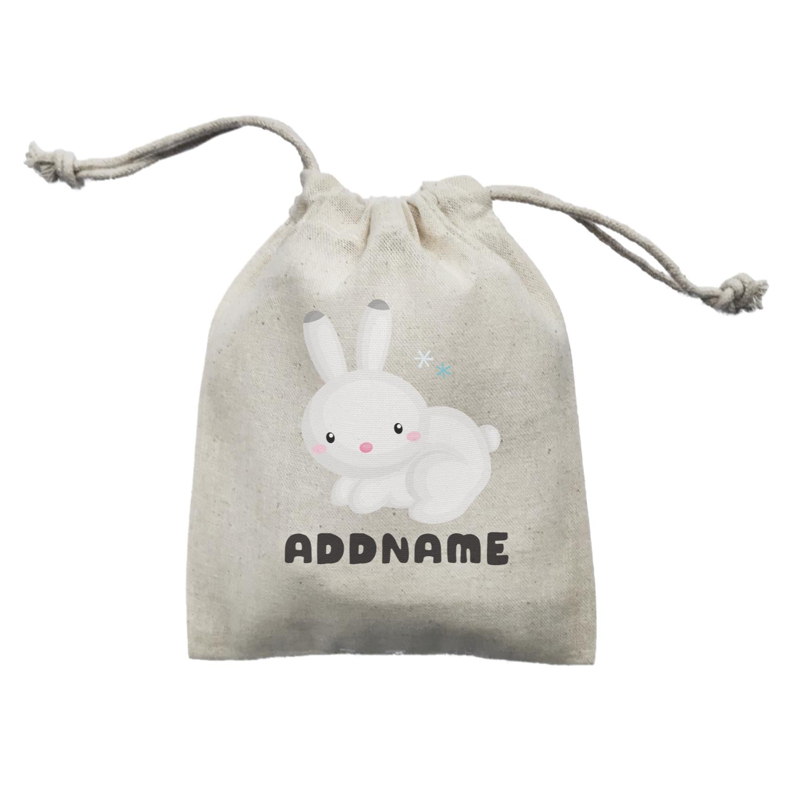 Birthday Winter Animals Snow Rabbit Addname Mini Accessories Mini Pouch