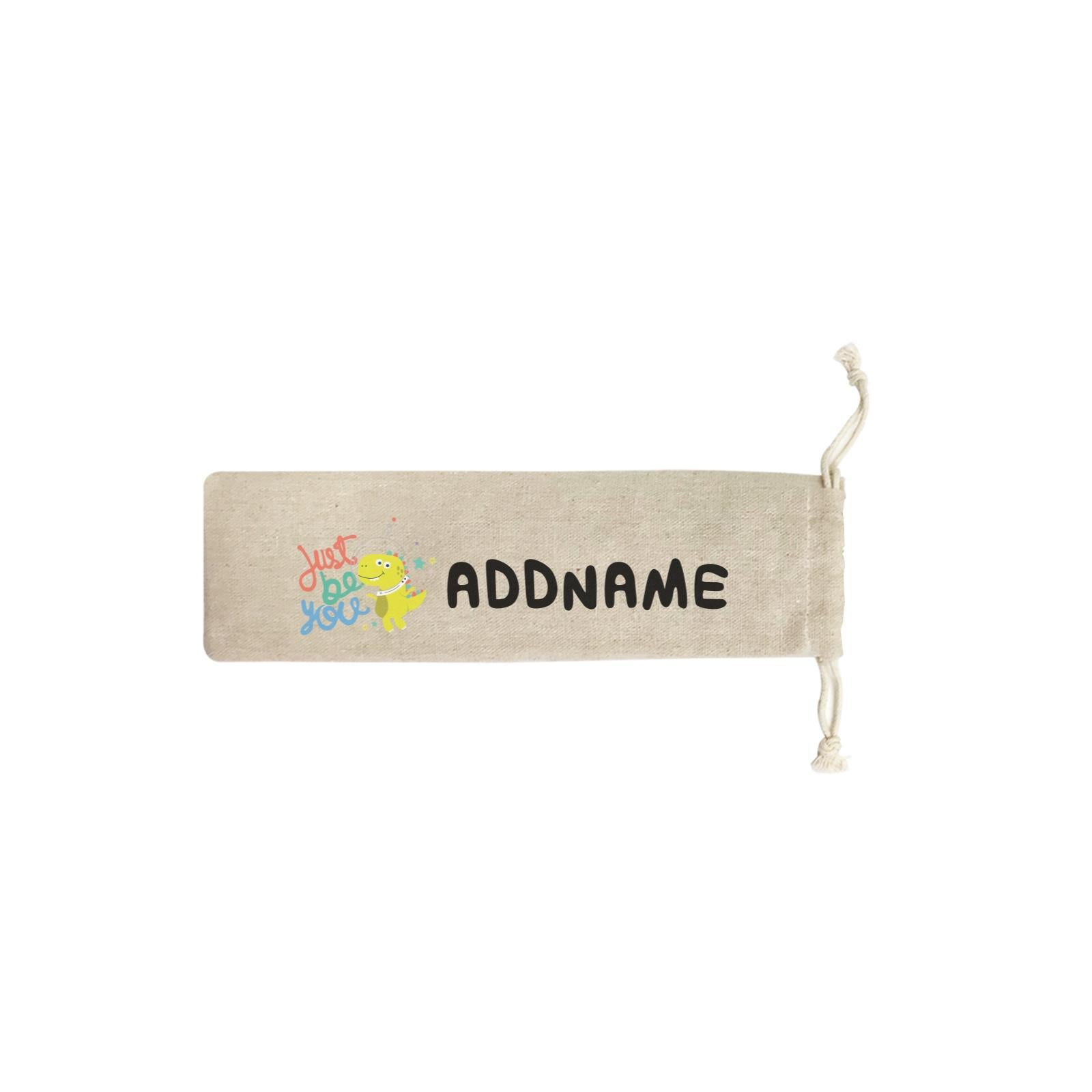 Children's Day Gift Series Just Be You Space Dinosaur Addname SB Straw Pouch (No Straws included)