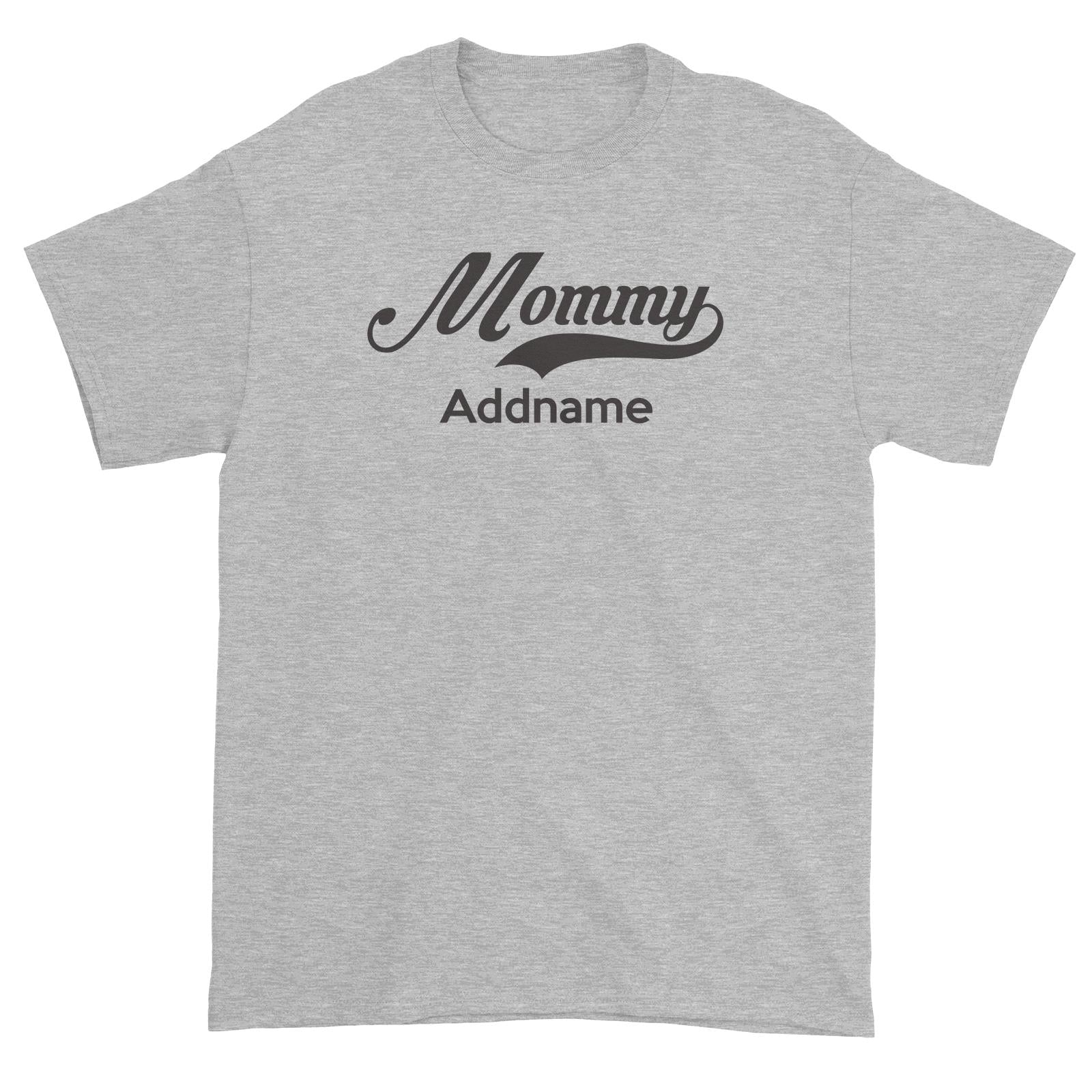 Retro Mommy Addname Unisex T-Shirt  Matching Family Personalizable Designs