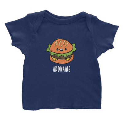 Fast Food Burger Addname Baby T-Shirt  Matching Family Comic Cartoon Personalizable Designs