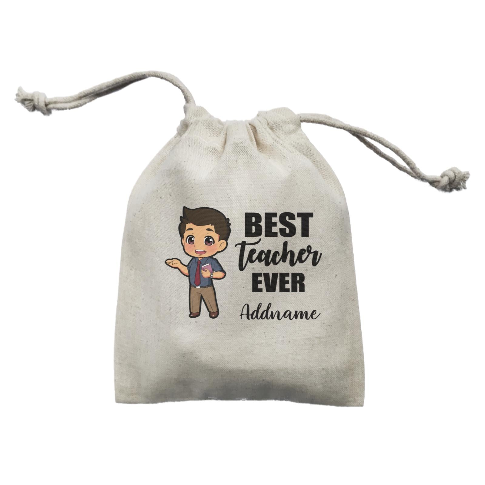 Chibi Teachers Malay Man Best Teacher Ever Addname Mini Accessories Mini Pouch