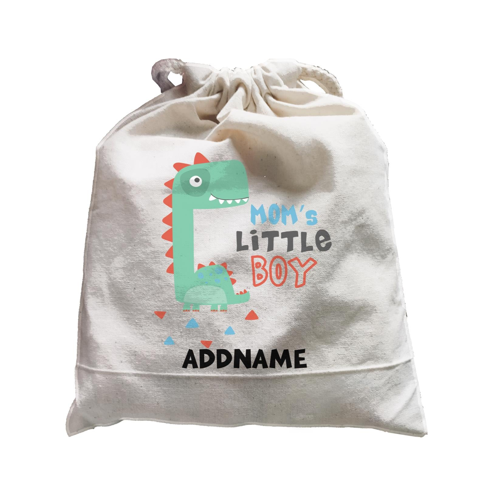 Mom's Little Boy Dinosaur Addname Bag Satchel