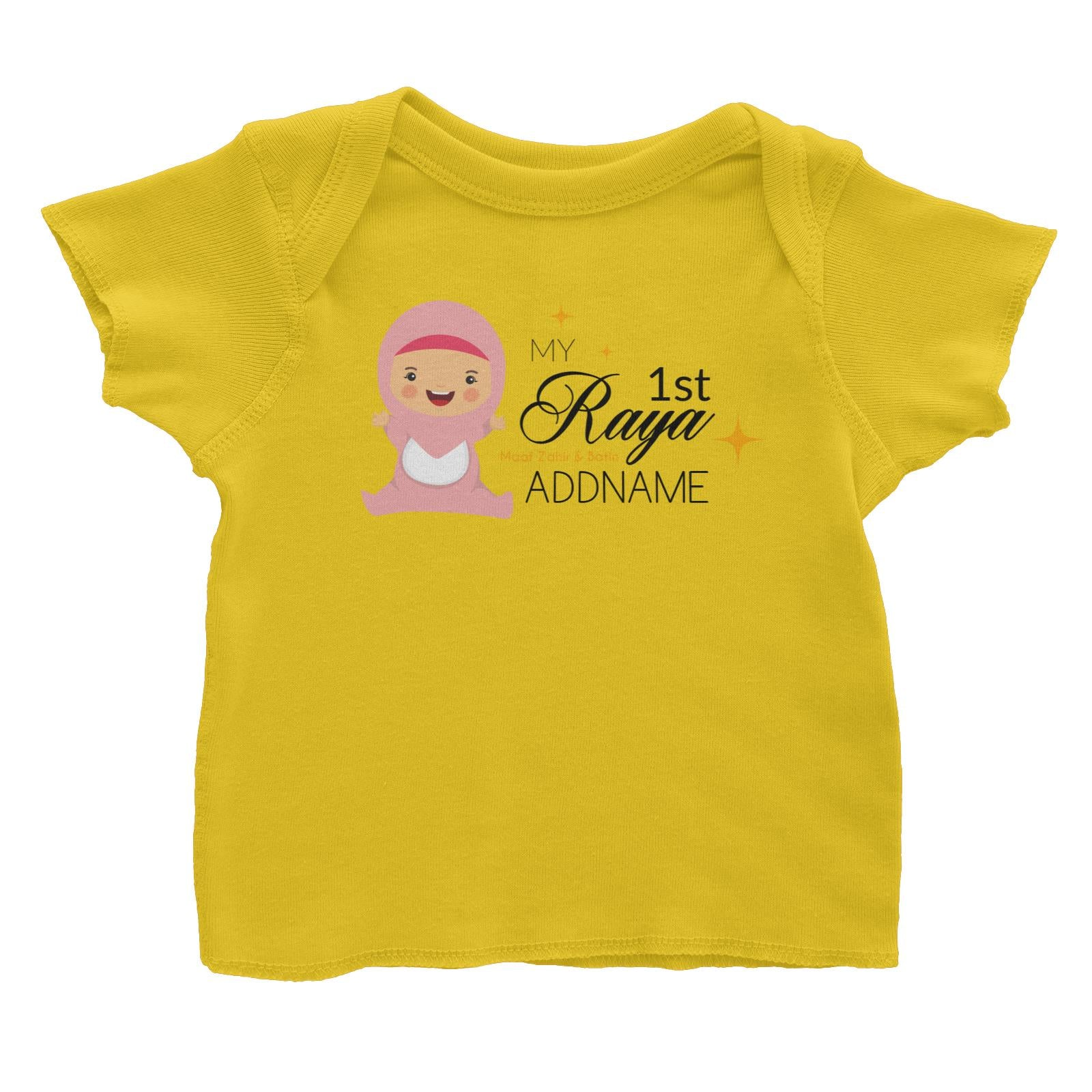 My 1st Raya Baby Girl Baby T-Shirt  Personalizable Designs Sweet Character