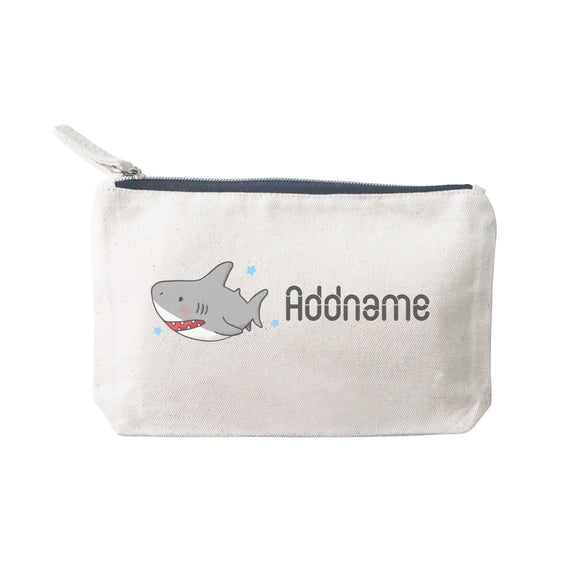 Cute Hand Drawn Style Shark Addname SP Stationery Pouch 2