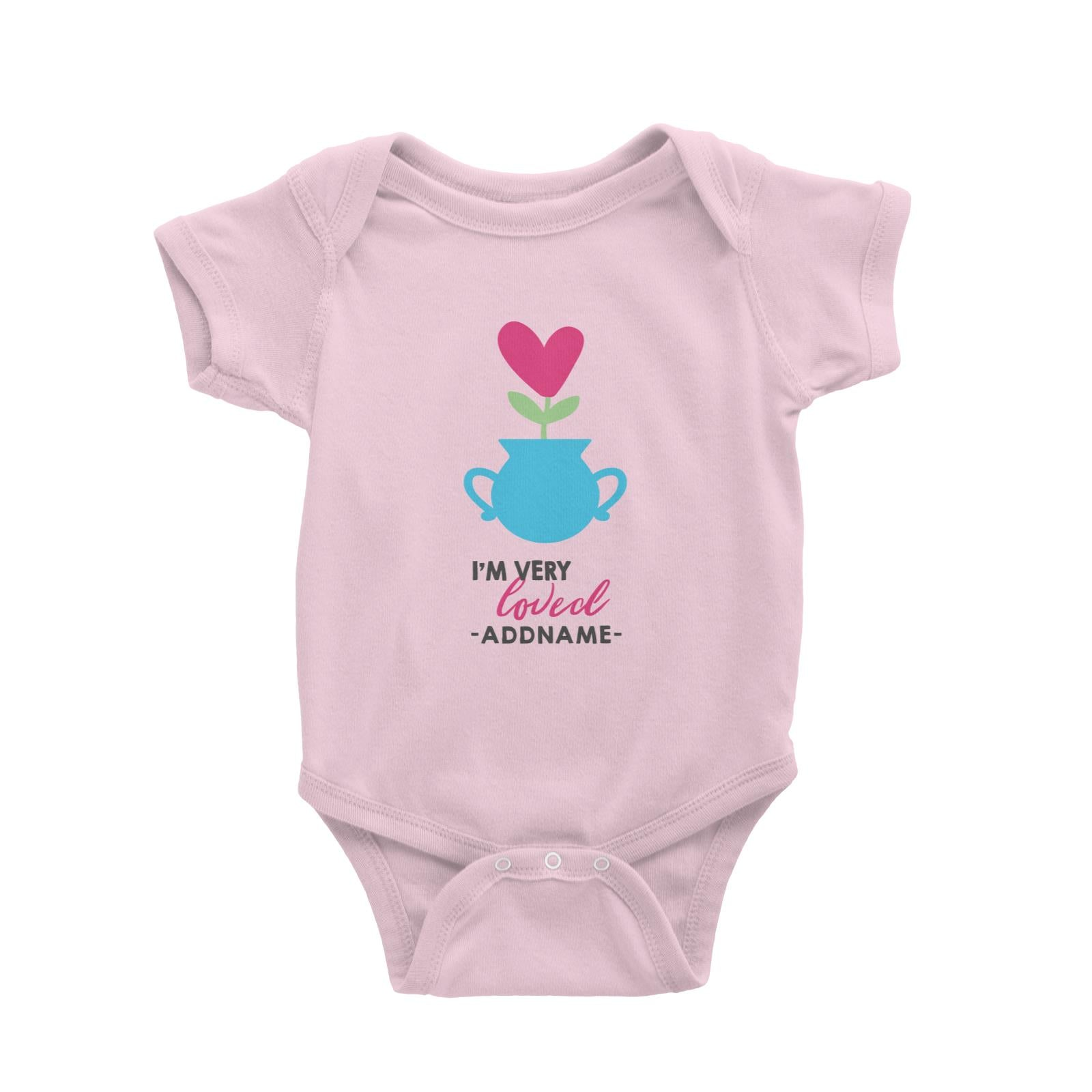 Nurturing I'm Very Loved Addname Baby Romper Love Matching Family Personalizable Designs