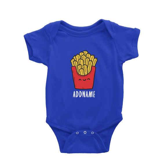 Fast Food Fries Addname Baby Romper  Matching Family Comic Cartoon Personalizable Designs