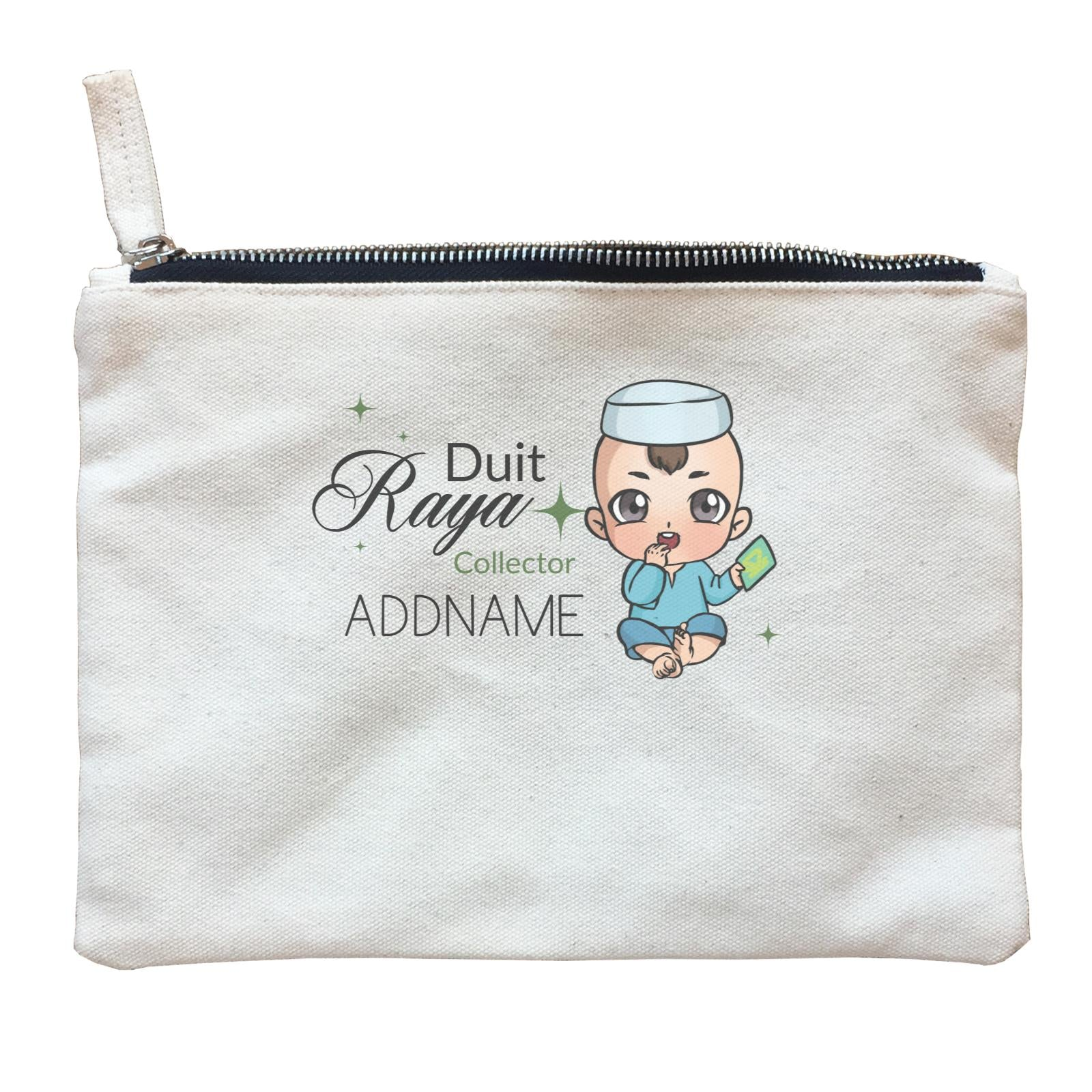 Raya Chibi Baby Baby Boy Duit Raya Collector Addname Zipper Pouch