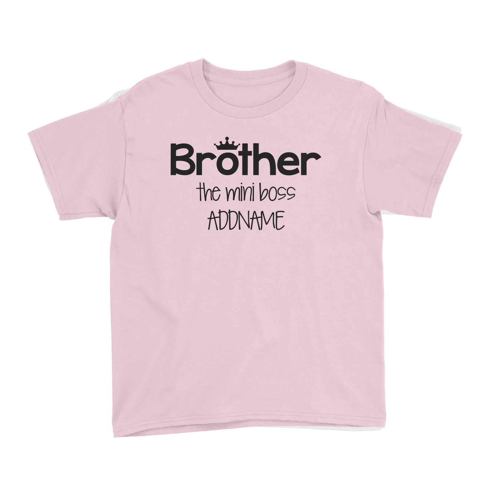 Brother with Crown The Mini Boss Kid's T-Shirt