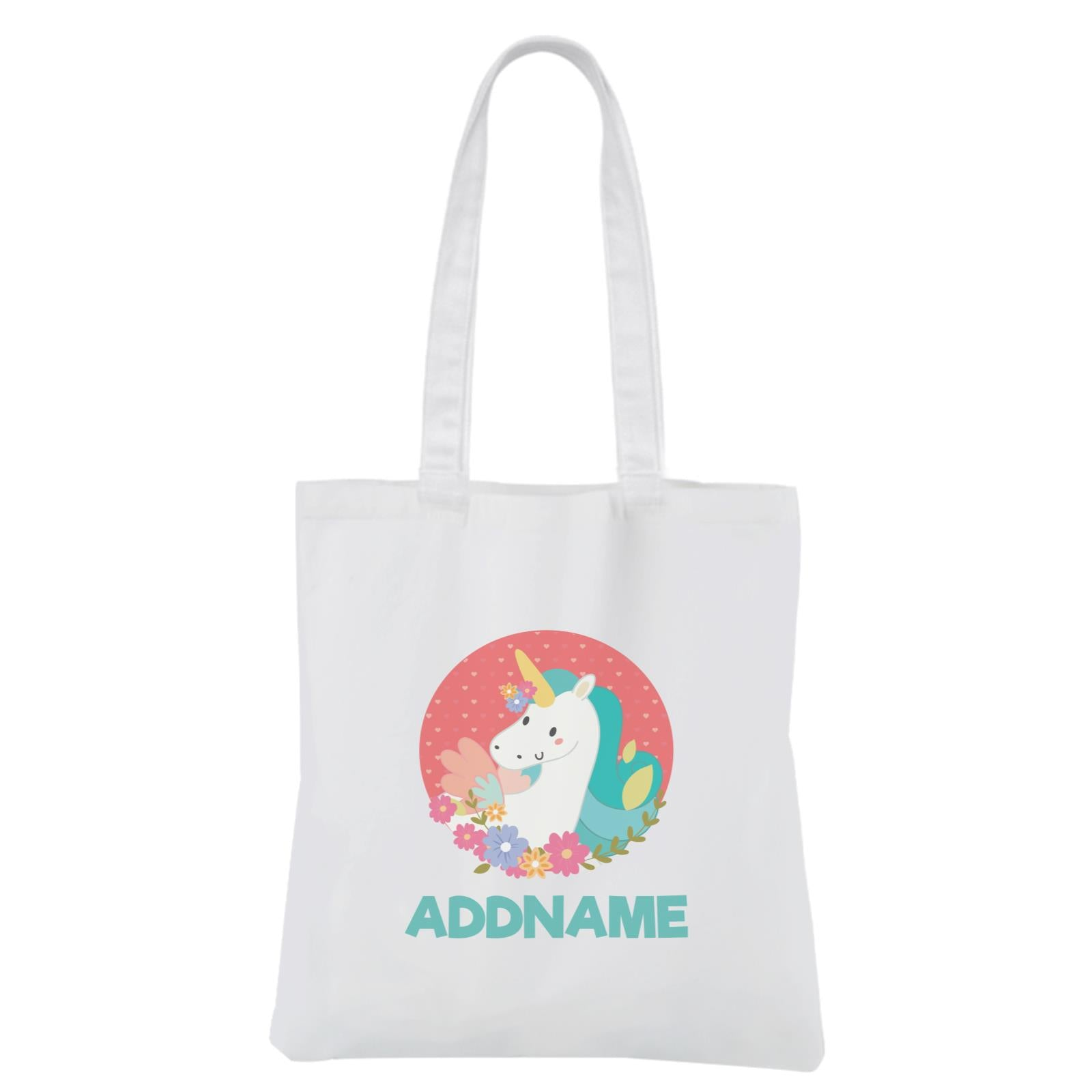 Fabulous Unicorn White Canvas Bag