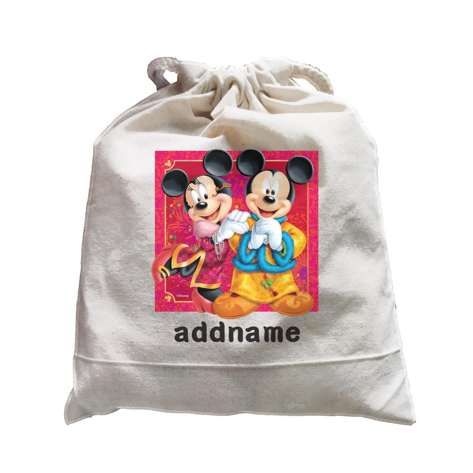 Disney CNY Mickey And Minnie Personalised SAT Satchel
