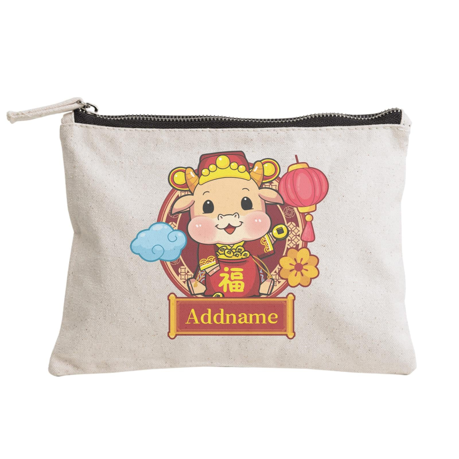 [CNY 2021] Cow of Wealth Zipper Pouch