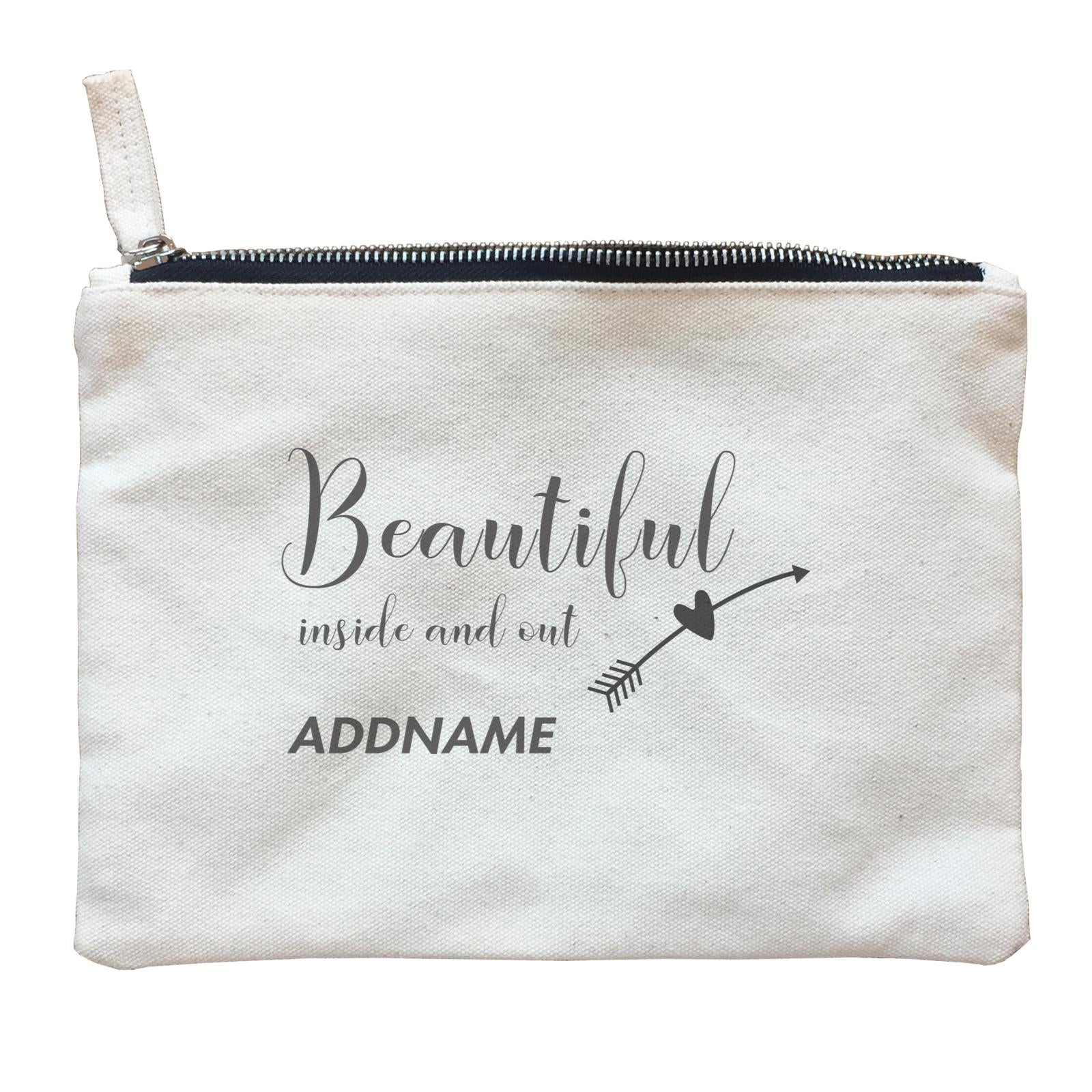 Make Up Quotes Beautiful Inside And Out Addname Zipper Pouch